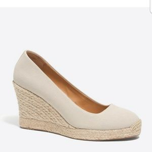 J.CREW CANVAS  WAGE  SPADRILLE SIZE 6